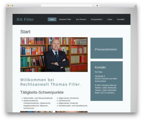 Best WordPress template Lava - ra-filler.de