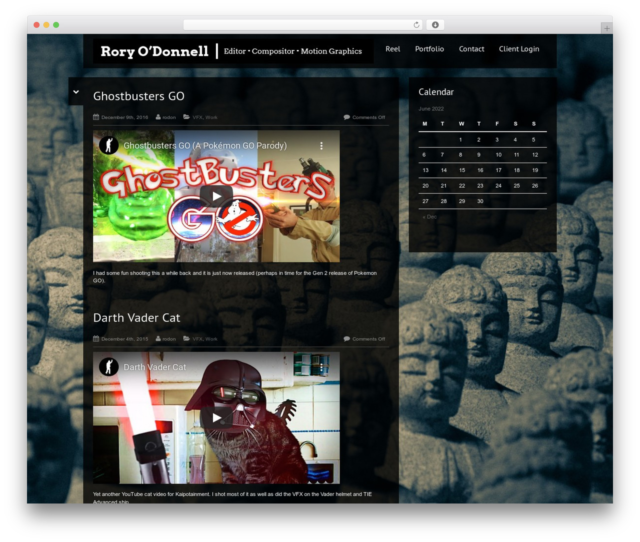 Black Label WordPress theme - rorypodonnell.com