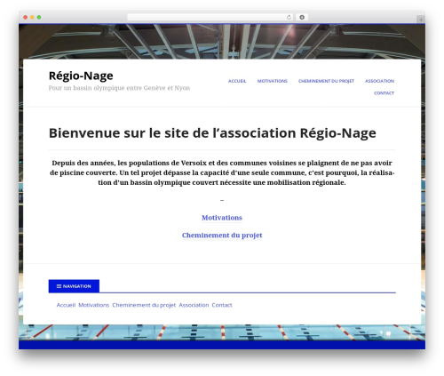 Boldly Go Blue WordPress page template - regio-nage.ch