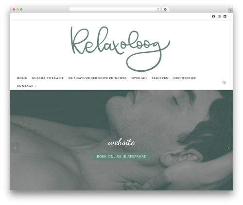Customizr free WordPress theme - relaxoloog.nl