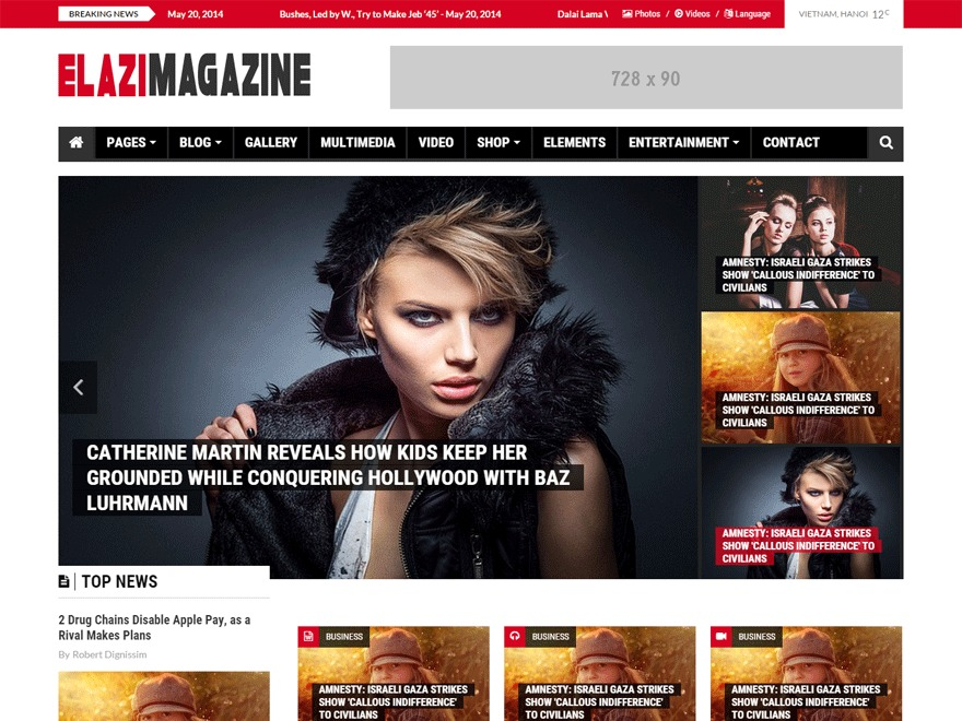 Elazi Child Theme WordPress news theme