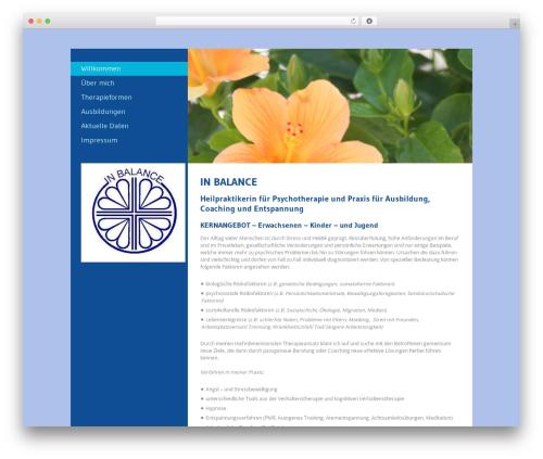 Foundation WordPress website template - ruheoase.info