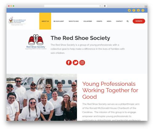 Jupiter theme WordPress - rmhc-carolinas.org/red-shoe-society