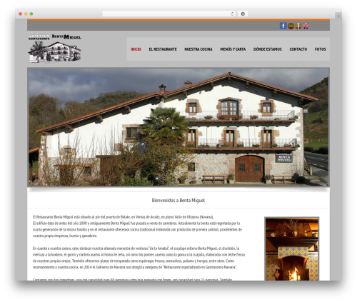 Linofeast WordPress restaurant theme - restaurantebentamiguel.com