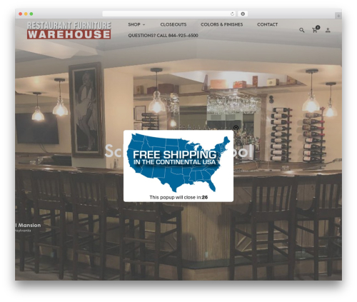 Merchandiser WordPress theme - restaurantfurniturewarehouse.com