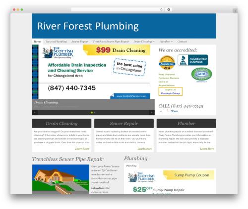 Organic-NonProfit WP theme - riverforestplumbing.com