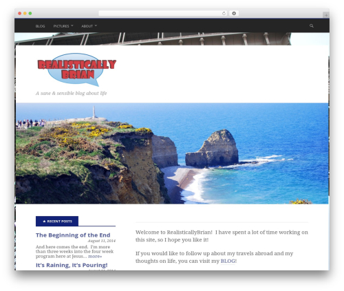 Stargazer WordPress theme download - realisticallybrian.com