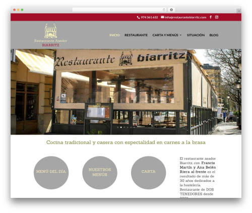 Theme WordPress Divi - restaurantebiarritz.com