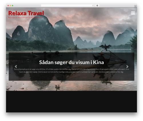 Travellator WordPress theme design - relaxa-travel.dk