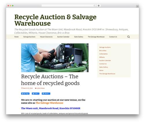 Twenty Thirteen template WordPress free - recycleauction.co.uk