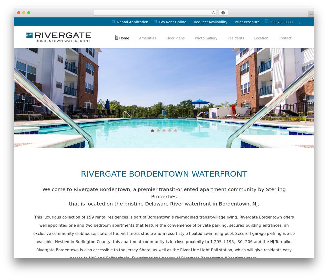 Vellum WordPress theme - rivergatebordentown.com