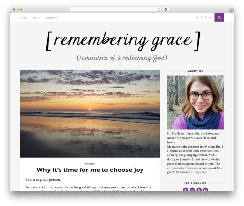WordPress theme Florence - rememberinggrace.com