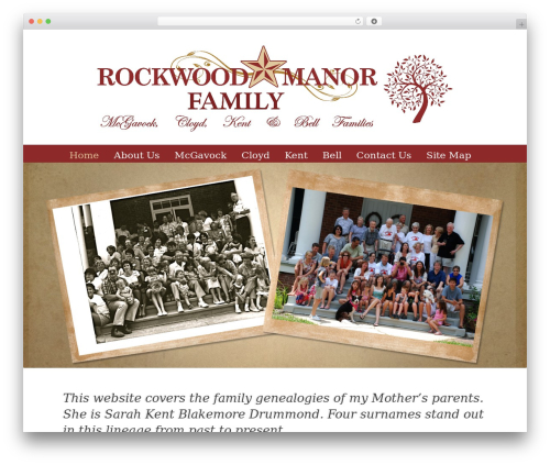 WP theme Gravit - rockwoodfamily.com