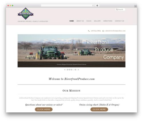 Agency WordPress theme - riverfrontproduce.com