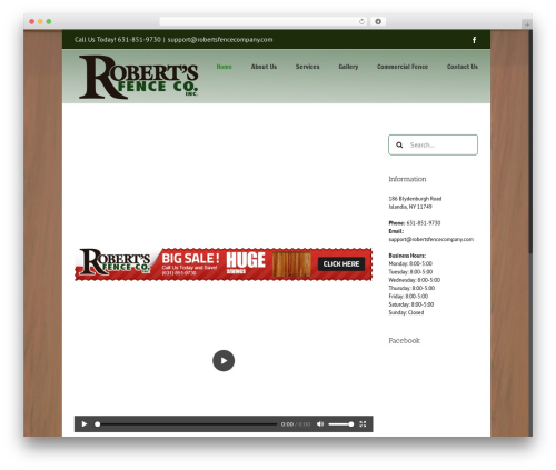 Free WordPress Easy Video Player plugin - robertsfencecompany.com