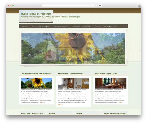 Genesis WordPress theme - ruegen-nationalpark-urlaub.de