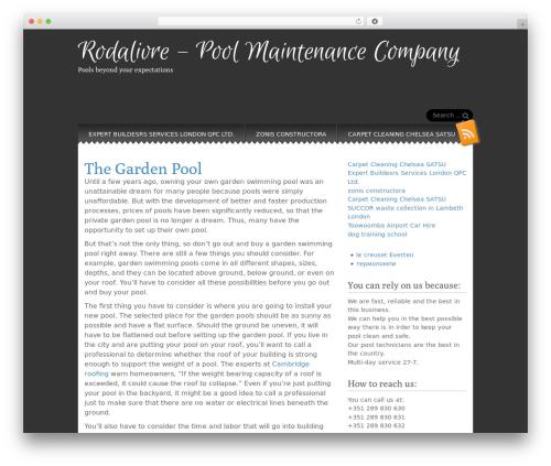 Snowblind best free WordPress theme - rodalivre.pt