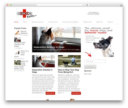 Split WordPress page template - rescuerenly.com