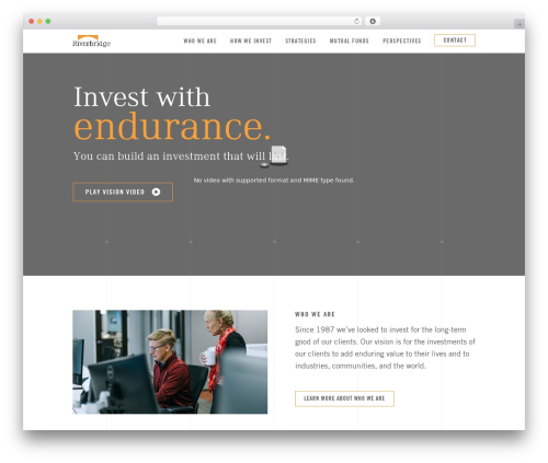 Stockholm premium WordPress theme - riverbridge.com