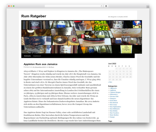 Twenty Ten free WordPress theme - rum-ratgeber.de