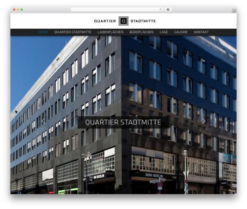 UpSolution WordPress theme design - quartier-stadtmitte.de