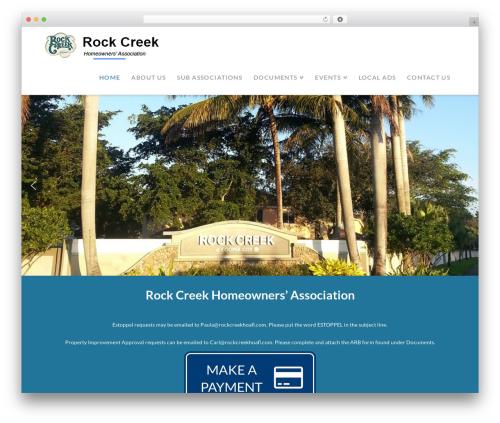 X premium WordPress theme - rockcreekhoafl.com