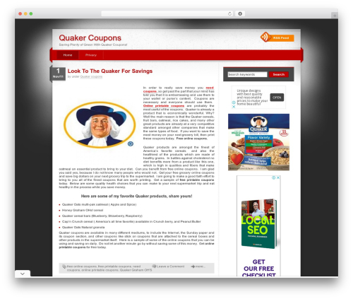 iDream WordPress template - quakercoupons.net