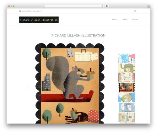 Maskitto Light WordPress template - richlillashillustration.com