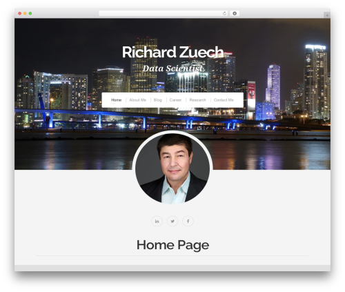 Organic Profile WP template - richardzuech.com