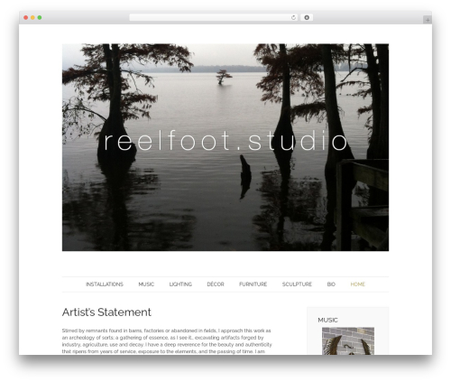 Pho WordPress template - reelfootstudio.com