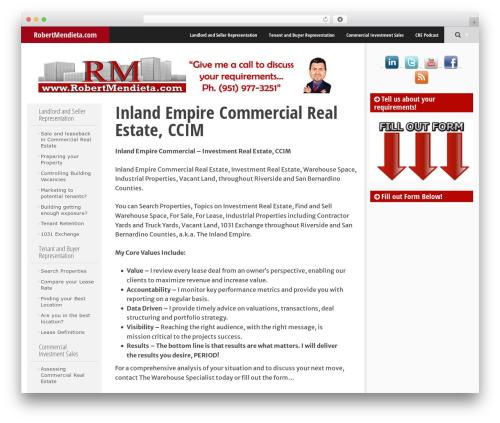 SmartAdapt real estate WordPress theme - robertmendieta.com