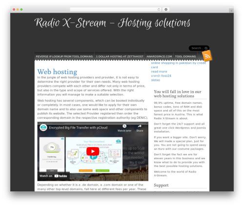 Snowblind WordPress free download - radio-x-stream.at