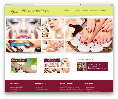 Sparse top WordPress theme - renaitsenses.com