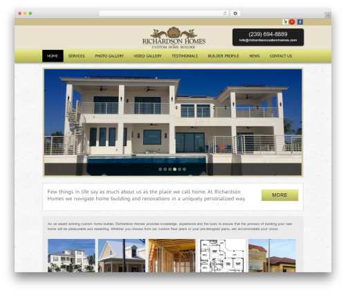 Theme WordPress Modular - richardsoncustomhomes.com