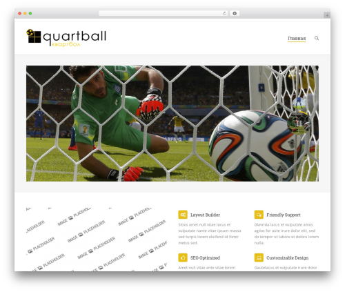WordPress theme The7.2 - quartball.ru