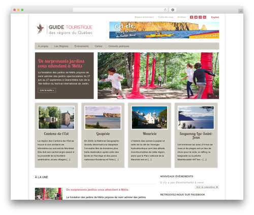 WordPress website template Discovery - quebectourisme.ca