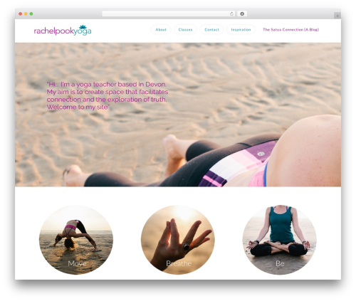 WordPress website template X - rachelpookyoga.com