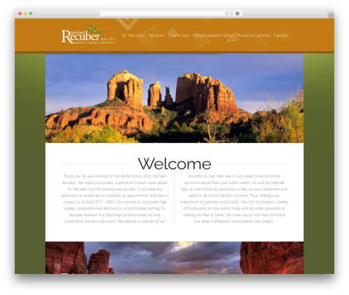 X WordPress website template - recuberdds.com