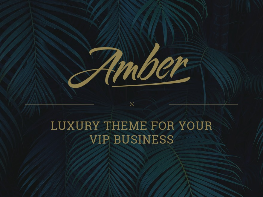 Amber business WordPress theme