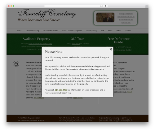 avenue WordPress template - ferncliffcemetery.com