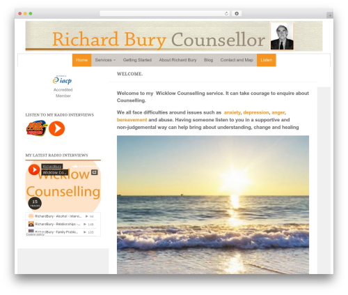 Being Hueman template WordPress - wicklowcounselling.com