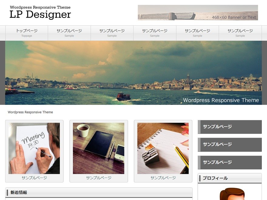 Best WordPress template LP_Designer_2CRSA02_v4.0