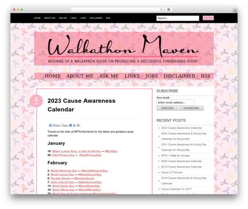 Best WordPress theme Bueno - walkathonmaven.org