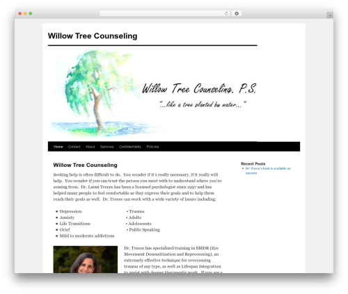 Best WordPress theme Twenty Ten - willowtreecounseling.com