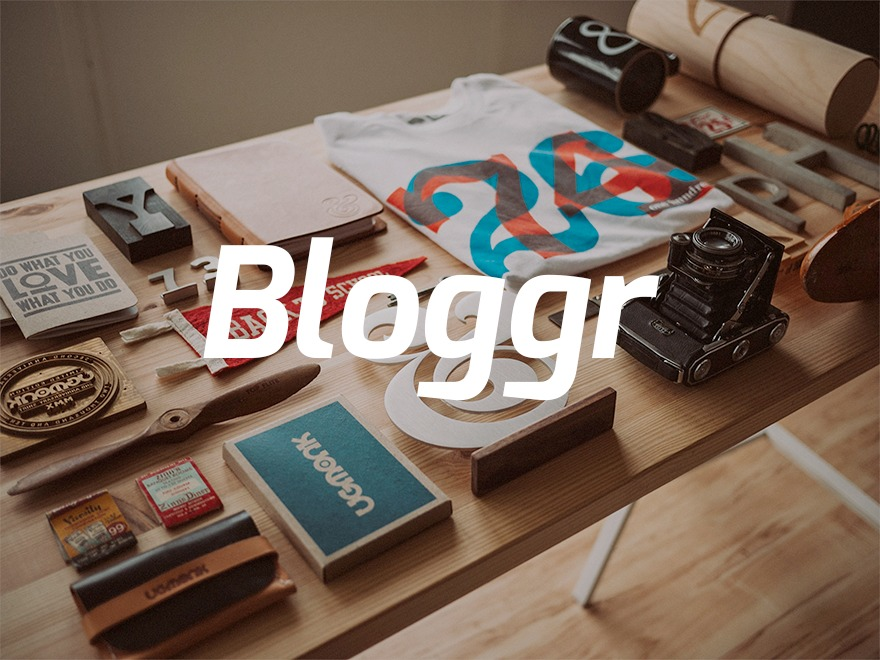 bloggr WordPress blog template