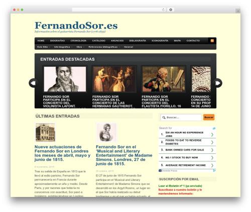 Bold News WordPress magazine theme - fernandosor.es