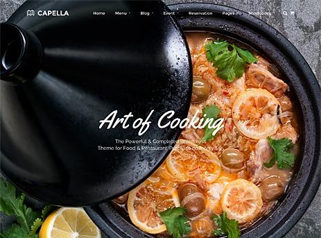 Capella food WordPress theme