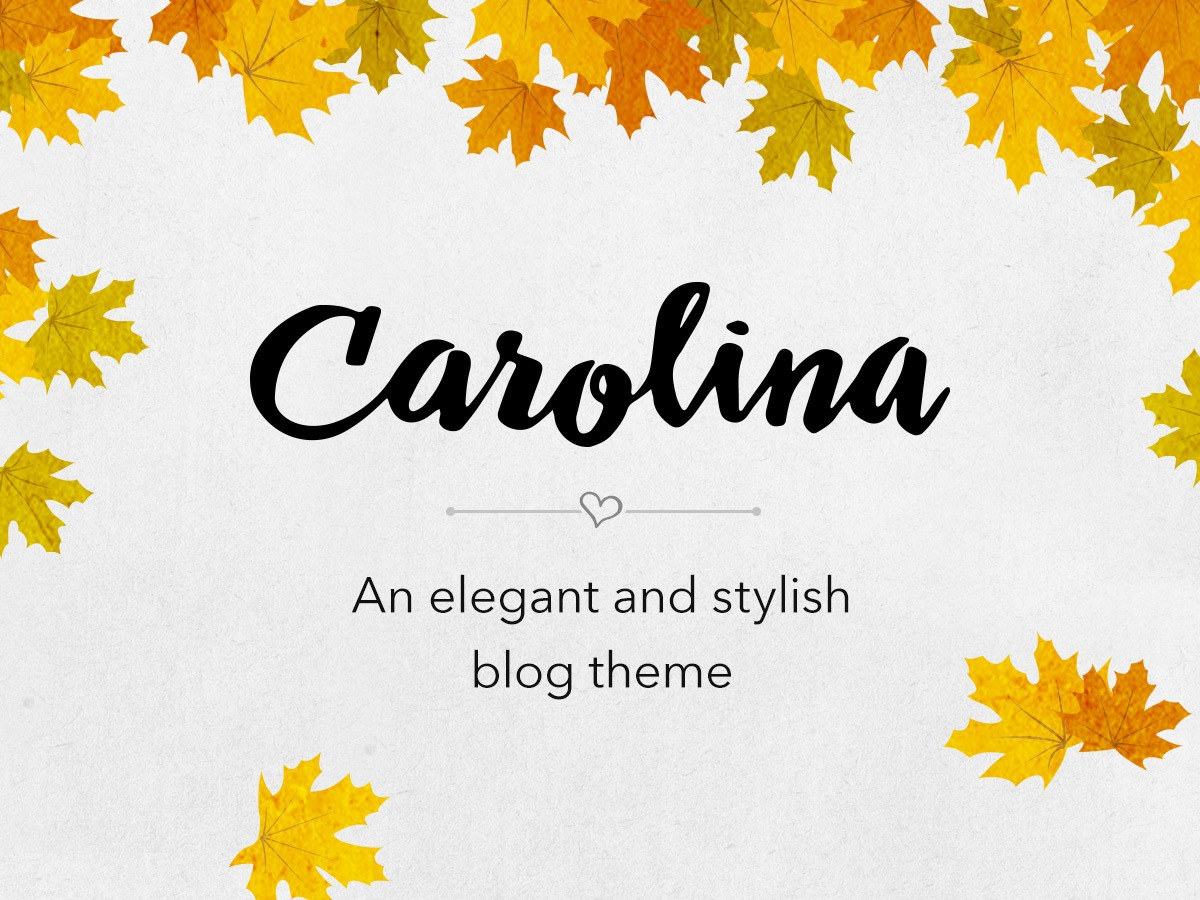 carolina best WordPress template