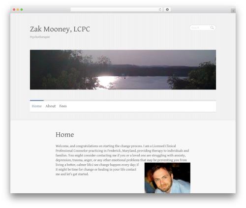 Clean Retina best free WordPress theme - frederickcounselor.com