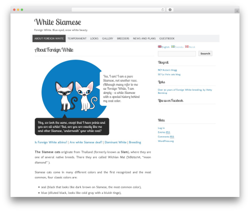 Codium Extend free WordPress theme - whitesiamese.net